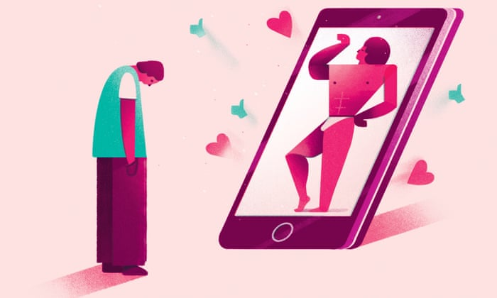 Social Media vs. Real Life- sursa The Guardian