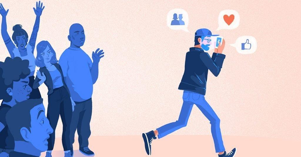 Social Media vs. Real Life- sursa Healthlife